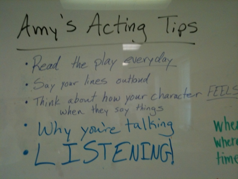 BC Amy's Acting Tips